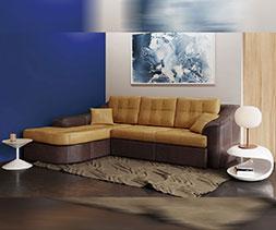 Разтегателен ъглов диван Holywood New + Топер Алое Мемори