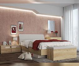 Легло с извита тапицирана табла Пенелопе