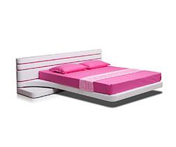 Тапицирано легло с вградени нощни шкафчета Виола