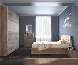 Спалня с тапицирана табла Нора