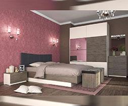 Спалня с тапицирана табла Мока
