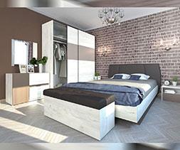 Легло с тапицирана табла Еврос