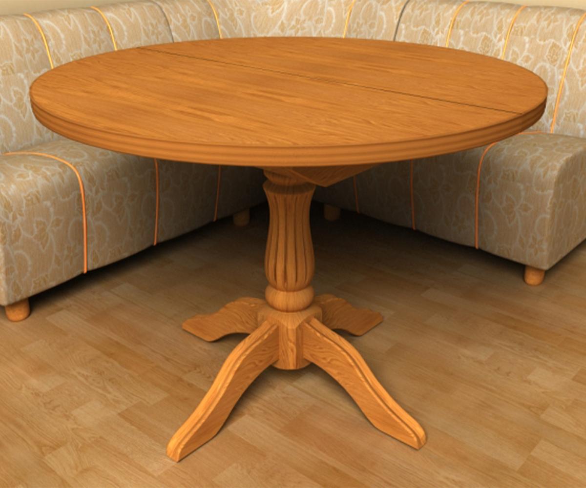 Кръгла маса за трапезария и кухня Росица – Класик