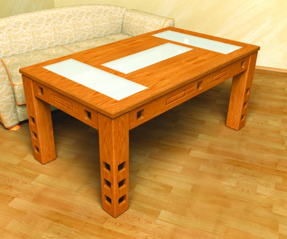 Правоъгълна трапезна маса от масив Сара - Арт 13