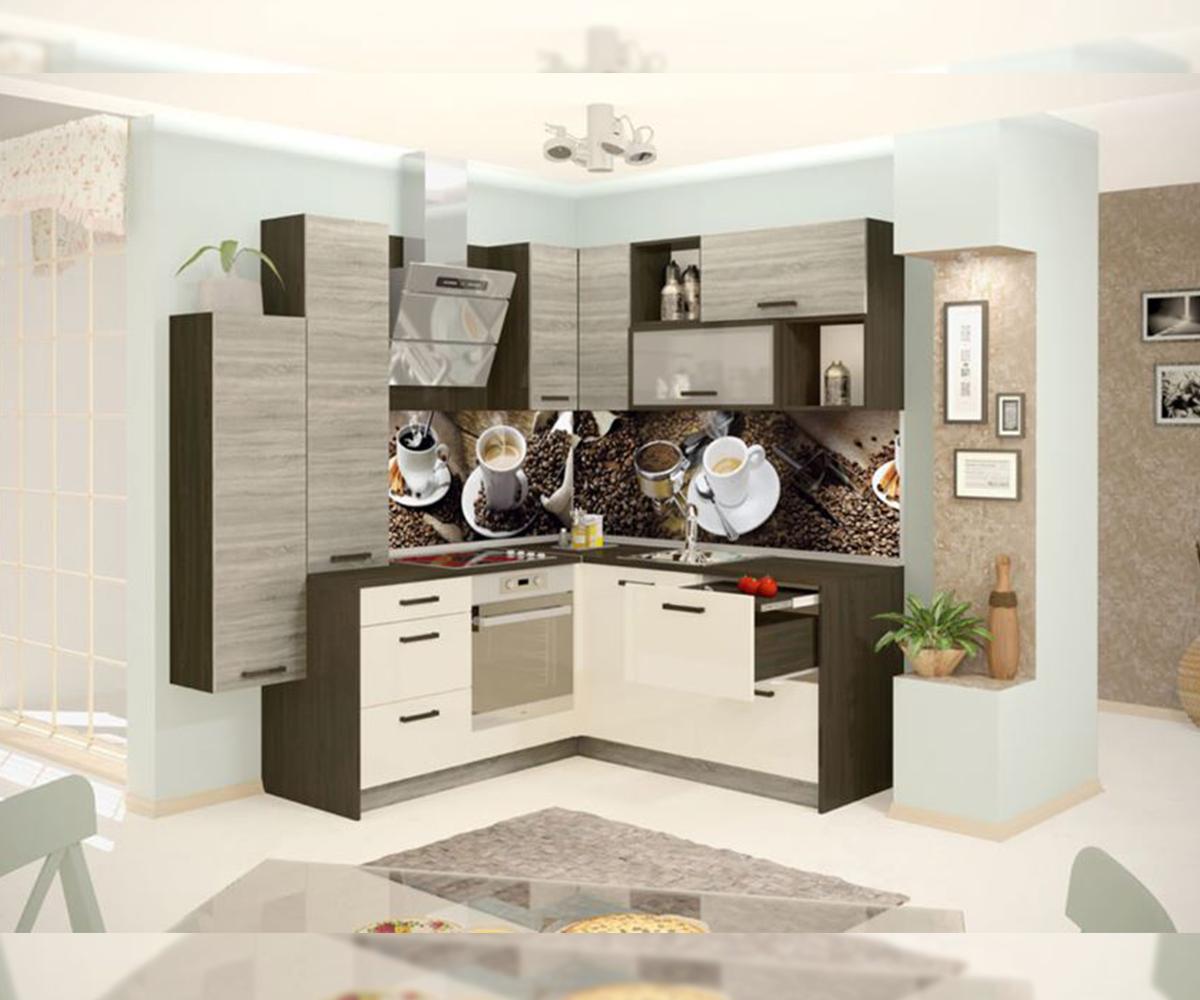 Ъглова кухня модулен комплект Гуанабана
