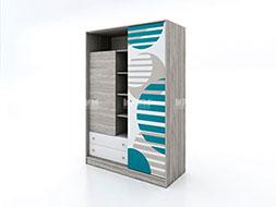 Детски шкаф с гардероб с плъзгаща врата Сити 1022