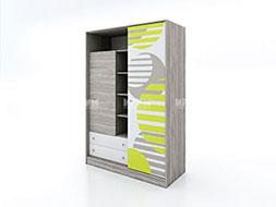 Детски шкаф с гардероб с плъзгаща врата Сити 1021