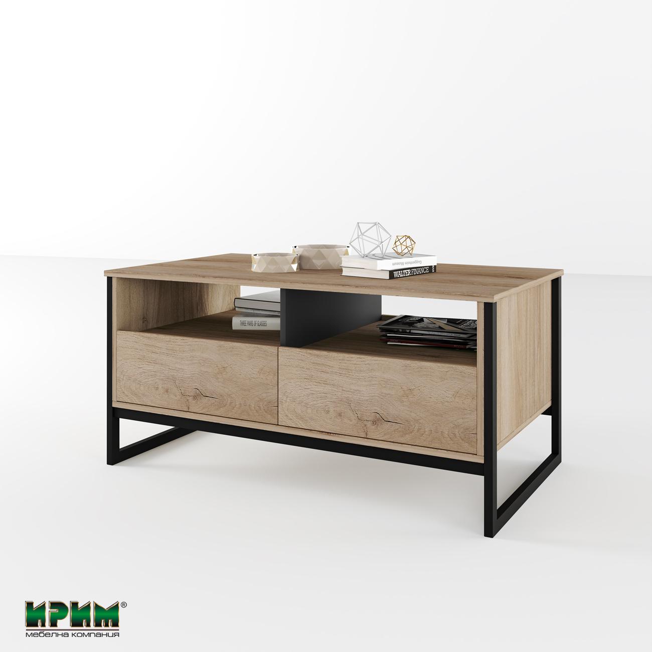 Холна маса със стъклен плот принт Сити 6213