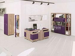 Модулни мебели за офис композиция 12